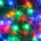 Гирлянда светодиодная Вьюн СНОУ БУМ 9м, 100 LED,мультицвет, 8 режимов, прозрачный провод, 220В
