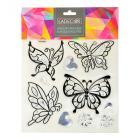 Картинка LADECOR Набор наклеек, ПВХ, в виде бабочек, 27х21см в сети магазинов постоянных распродаж Галамарт