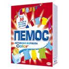 Картинка Стиральный порошок ПЕМОС Колор для цветного белья, к/у 350г в сети магазинов постоянных распродаж Галамарт