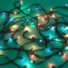 Гирлянда светодиодная Вьюн СНОУ БУМ 2.5 м, 25 ламп, мультицвет, 8 режимов, зеленый провод, 220В