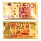 Картинка Конверт для денег золотой с изображением денег, пластик, 9x18см, 2 дизайна, дизайн ГЦ в сети магазинов постоянных распродаж Галамарт