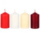 Картинка LADECOR Свеча пеньковая, парафин, 5х9см, 4 цвета в сети магазинов Галамарт