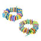 Картинка МЕШОК ПОДАРКОВ Шнуровка в виде геометрических фигур/цветов, ЭВА, 15х17см, 2 дизайна в сети магазинов постоянных распродаж Галамарт