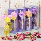 Картинка LADECOR Ароманабор 50мл с декором, с ароматами фрезии, цветочного сада, орхидеи, фиалки в сети магазинов постоянных распродаж Галамарт