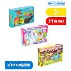 Картинка ИГРОЛЕНД Игра-ходилка настольная, картон, пластик, 24х16х4см, 3 дизайна в сети магазинов постоянных распродаж Галамарт