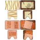 VETTA Набор ковриков 2шт для ванной и туалета, акрил, 50x80см + 50x50см, бежевый 4 дизайна
