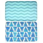 Коврик для ванной, флис, принт, губка, 1,2 см, 50x80 см, 2 дизайна, VETTA