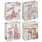 Картинка Пакет подарочный, высококачественная бумага, 12х14х6 см, 4 цвета, арт 1 в сети магазинов постоянных распродаж Галамарт