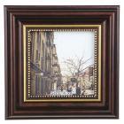 Картинка Фоторамка с золотым кантом коричневая, 10х10 (14,5х14,5см), пластик в сети магазинов постоянных распродаж Галамарт