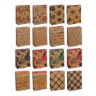 Картинка Пакет подарочный бумажный, крафт, 18х24х8,5 см, 4 дизайна в сети магазинов постоянных распродаж Галамарт