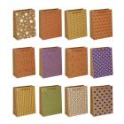 Картинка Пакет подарочный бумажный, крафт, 18х24х8,5 см, с блестящим слоем, 6 дизайнов в сети магазинов постоянных распродаж Галамарт