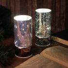 Картинка Светильник LED с гирляндой, 15х7 см, стекло, 2хАА, без батареек, 2 цвета, арт1 в сети магазинов постоянных распродаж Галамарт