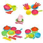 Картинка ИГРОЛЕНД Набор посуды в сетке, 6-18 пр., пластик, 25х12х10см, 5 дизайнов в сети магазинов Галамарт