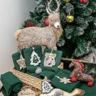 PROVANCE Рождество Полотенце вафельное с cувениром, 40х60см, 100% хлопок, 220гр/м, 6 дизайнов