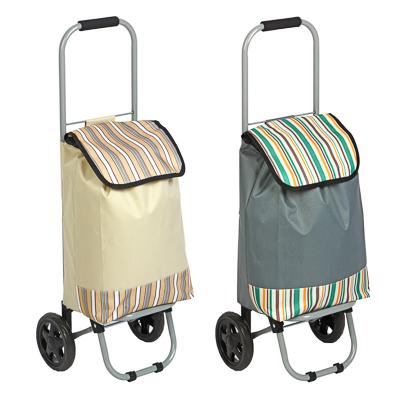 VETTA Тележка + сумка, грузоподъемность до 15кг, брезент, ЭВА, 32х22х86см, колесо d15см, HT-196-A - 1