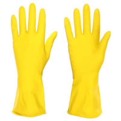 Перчатки резиновые желтые, L, VETTA - 1