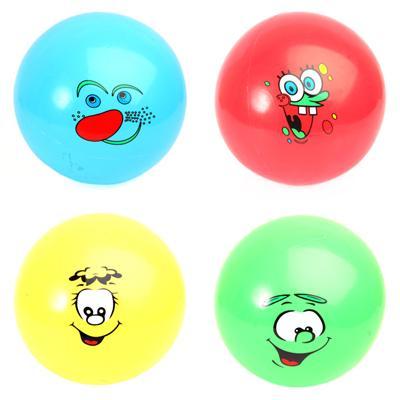 "Мяч ""Рожица"", ПВХ, 20см, 5 цветов - 1"