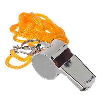 Свисток профессиональный на шнурке в пласт. боксе, металлический, 4 см