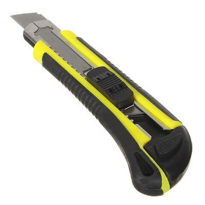 Нож универсальный HEADMAN с выдвижным сменными лезвиями 18мм.