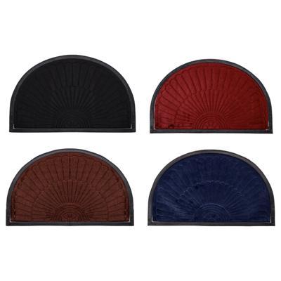 VETTA Коврик в прихожую с резиновой каймой, полиэстер, резина, 50х80см, 4 цвета, CR001