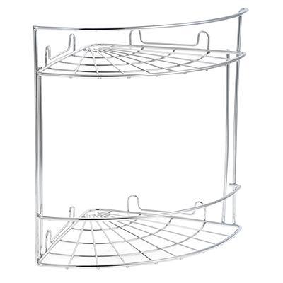 Полка настенная, угловая, двухъярусная, ARTEX Slim, арт. 27 10 38