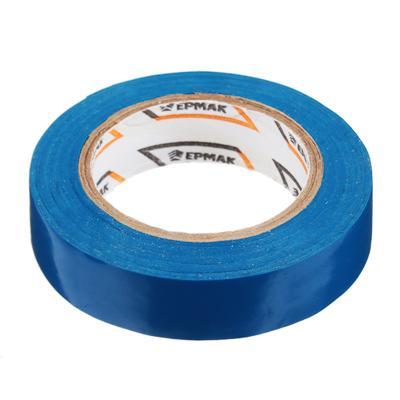 Изолента, ПВХ, в/с, синяя, шир. 15+-2 мм, 7,5 м, толщ 0,2 мм, ЕРМАК