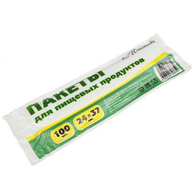 Пакеты полиэтиленовые для продуктов в рулоне 100 шт, 24x37см