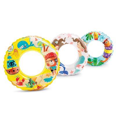 Надувной круг INTEX 59242 d. 61 см 3 дизайна, от 6 до 10 лет
