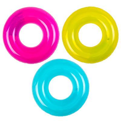 Надувной круг INTEX 59260 Прозрачный d. 76 см 3 цвета, от 8 лет