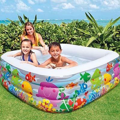 Надувной бассейн для детей INTEX 57471 Аквариум 159x159x50 см от 3 лет