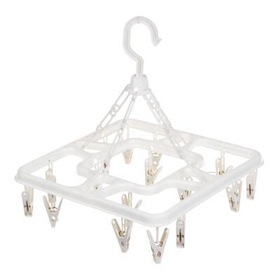 VETTA Сушилка для белья подвесная квадратная с прищепками 16 шт., пластик, 3 цвета