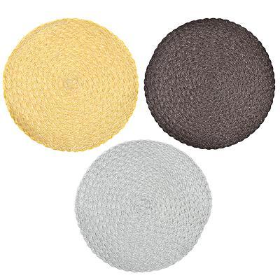 Салфетка сервировочная крупноплетеная, d39см, 3 цвета