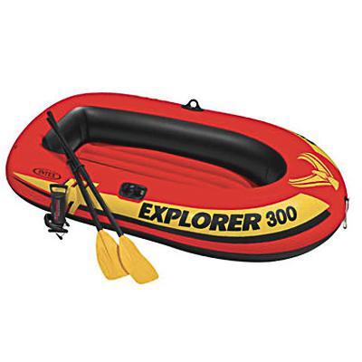 Лодка надувная INTEX Explorer 300, 211x117x41 см, до 186 кг, насос/весла от 6 лет, 58332