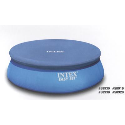 Крышка для круглого бассейна INTEX 58938/28021 с надувными бортами, d. 305см