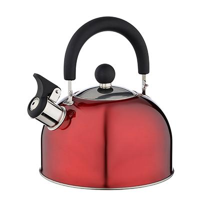 Чайник стальной, 2.5л, красный