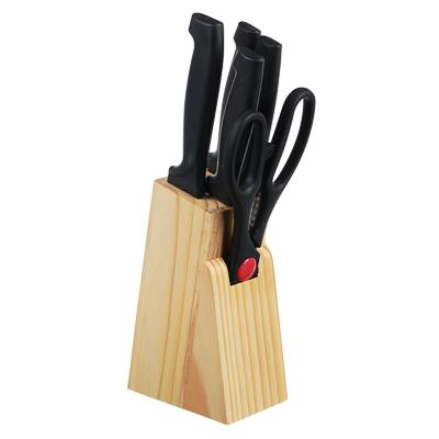 Набор ножей на подставке, 5 предметов ножи+ножницы