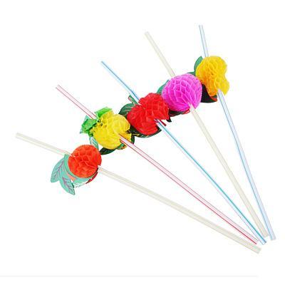Трубочки для напитков 12шт, 240x5мм, цветные,