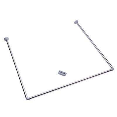 Карниз для ванной угловой, нерж.сталь, 90x90x90см