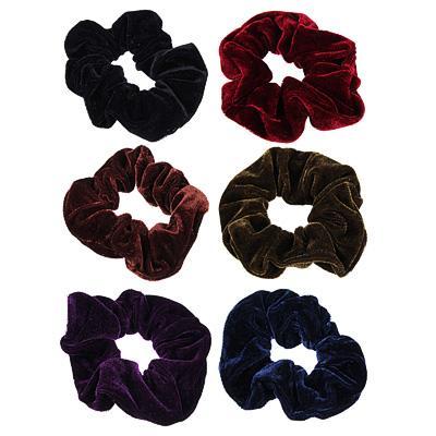 Резинка для волос бархат BERIOTTI, d.6 см, 6 цветов