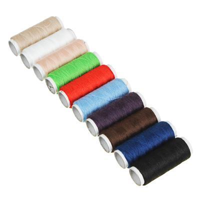 Нитки полиэстер, набор 10 шт., цветные