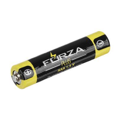 Батарейк солевые, 4 шт, тип AAA (R03), плёнка, FORZA