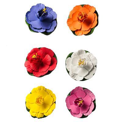 INBLOOM Лилия декоративная для пруда, ПВХ, 10см, 12 цветов