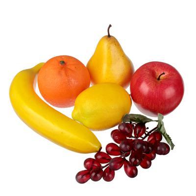 LADECOR Набор фруктов 6шт, пластик, 6 дизайнов