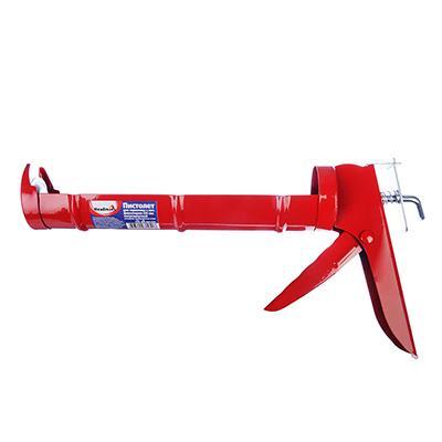 HEADMAN Пистолет для герметика с мет. фиксатором 225мм полукорп.