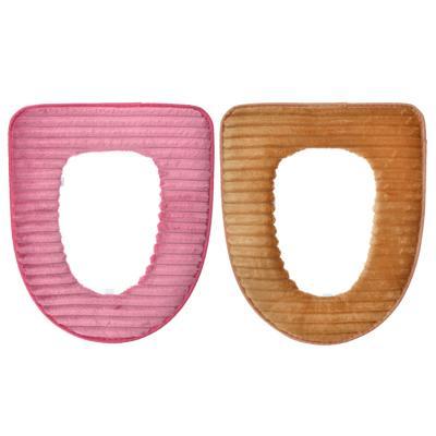 Чехол для сиденья унитаза, искусственный мех, ПВХ, 44х37см, 5 цветов,
