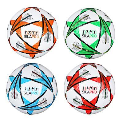 Мяч футбольный, 2 сл, размер 5, 22 см, PVC, 3 цвета, арт. МК20001-3
