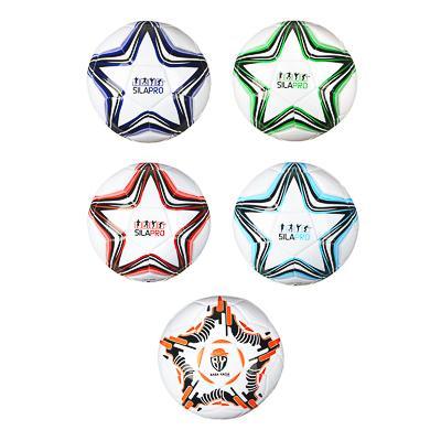 Мяч футбольный, 2 сл, размер 5, 22 см, PU, 4 цвета, арт. 503