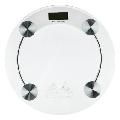 Весы напольные электронные до 180 кг, ЖК-дисплей, круглые d.33 см 487-020