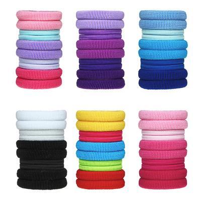 Резинки для волос BERIOTTI, 10 шт в тубе, d.4 см, полиэстер, 6 цветов