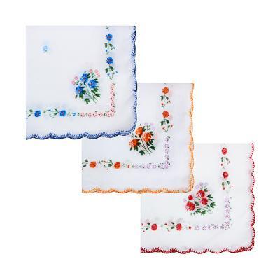 Носовой платок, хлопок, 30x30см, 3 цвета